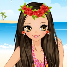 Jeu CUTE HAWAIIAN GIRL DRESS UP
